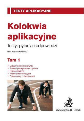 Okładka książki/ebooka Kolokwia aplikacyjne. Tom 1