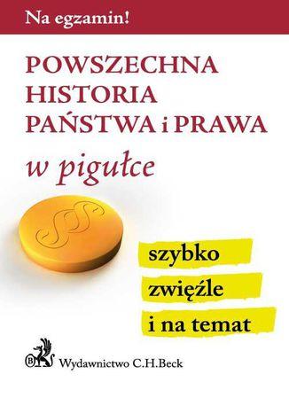 Okładka książki Powszechna historia państwa i prawa w pigułce