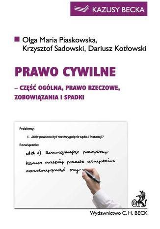 Okładka książki/ebooka Prawo cywilne (część ogólna, prawo rzeczowe, zobowiązania i spadki)