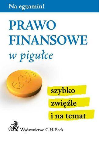 Okładka książki/ebooka Prawo finansowe w pigułce