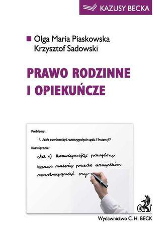Okładka książki Prawo rodzinne i opiekuńcze