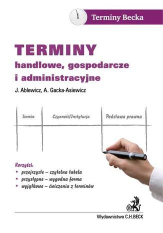 Okładka książki Terminy handlowe, gospodarcze i administracyjne