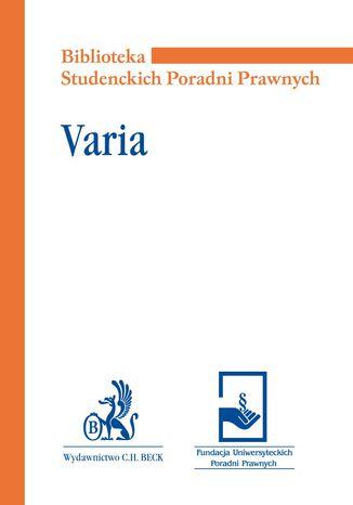 Okładka książki Varia
