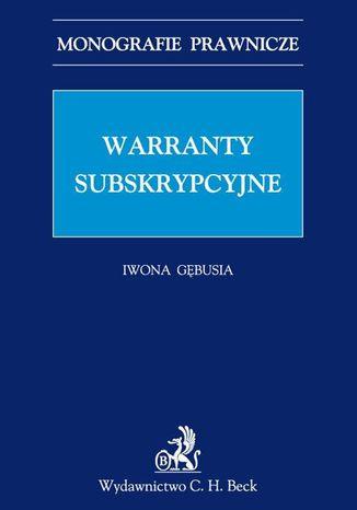 Okładka książki/ebooka Warranty subskrypcyjne
