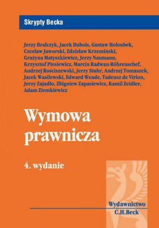 Okładka książki/ebooka Wymowa prawnicza