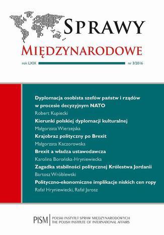Okładka książki/ebooka Sprawy Międzynarodowe 3/2016