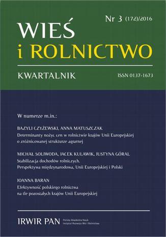Okładka książki/ebooka Wieś i Rolnictwo nr 3(172)/2016