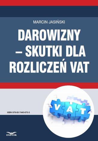 Okładka książki Darowizny  skutki dla rozliczeń VAT