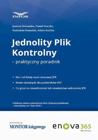 Okładka książki/ebooka Jednolity plik kontrolny  praktyczny poradnik