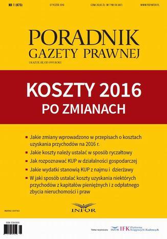 Okładka książki Koszty 2016 po zmianach