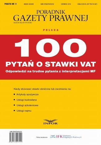 Okładka książki/ebooka PODATKI 2015 nr 11 - 100 pytań o stawki VAT