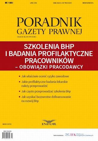 Okładka książki/ebooka Szkolenia BHP i badania profilaktyczne pracowników  obowiązki pracodawcy