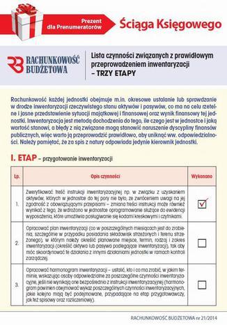 Okładka książki Ściąga Księgowego - Lista czynności związanych z prawidłowym przeprowadzeniem inwentaryzacji  TRZY ETAPY