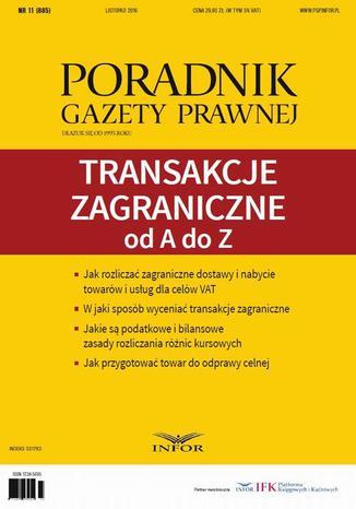 Okładka książki/ebooka Transakcje zagraniczne od A do Z