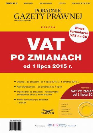 Okładka książki/ebooka VAT po zmianach od 1 lipca 2015 r