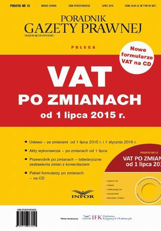 Okładka książki VAT po zmianach od 1 lipca 2015 r