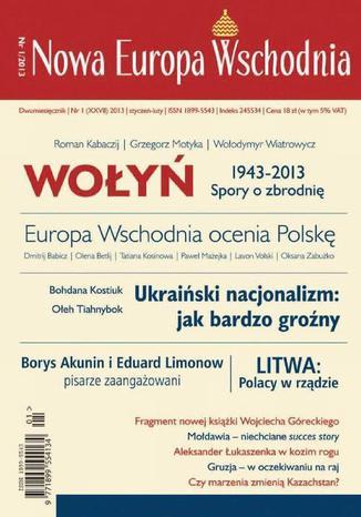 Okładka książki Nowa Europa Wschodnia 1/2013. Wołyń