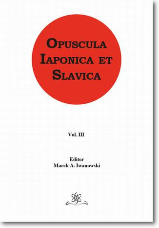 Okładka książki Opuscula Iaponica et Slavica Vol. 3