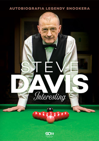 Okładka książki Steve Davis. Interesting. Autobiografia legendy snookera