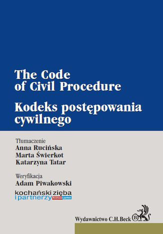 Okładka książki/ebooka Kodeks postępowania cywilnego. The Code of Civil Procedure