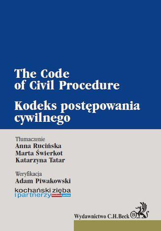 Okładka książki Kodeks postępowania cywilnego. The Code of Civil Procedure