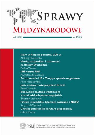 Okładka książki/ebooka Sprawy Międzynarodowe 4/2016