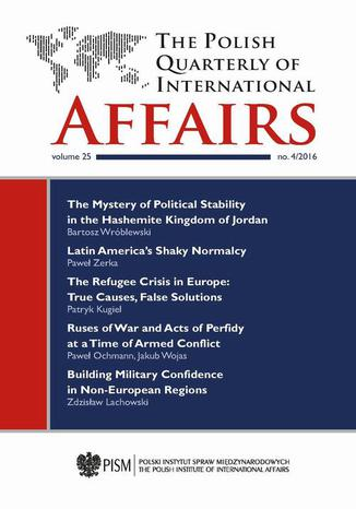Okładka książki The Polish Quarterly of International Affairs nr 4/2016