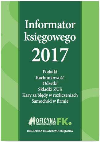 Okładka książki/ebooka Informator księgowego 2017