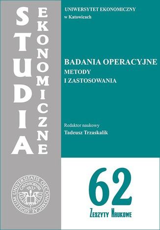 Okładka książki Badania operacyjne. Metody i zastosowania. SE 62