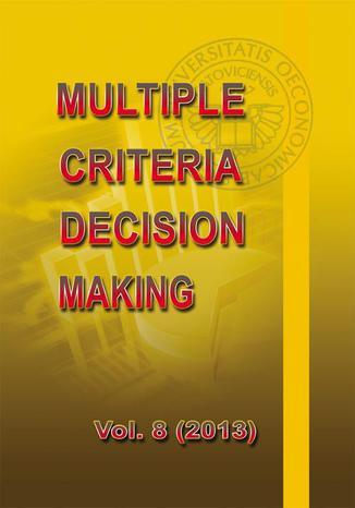 Okładka książki Multiple Criteria Decision Making vol. 8 (2013)