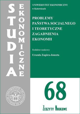 Okładka książki/ebooka Problemy państwa socjalnego i teoretyczne zagadnienia ekonomii. SE 68