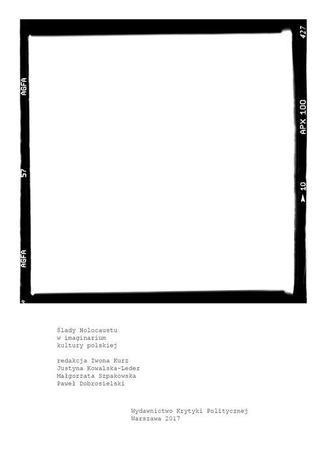 Okładka książki/ebooka Ślady Holocaustu w imaginarium kultury polskiej