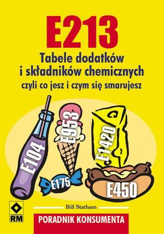 Okładka książki/ebooka E213. Tabele dodatków iskładników chemicznych