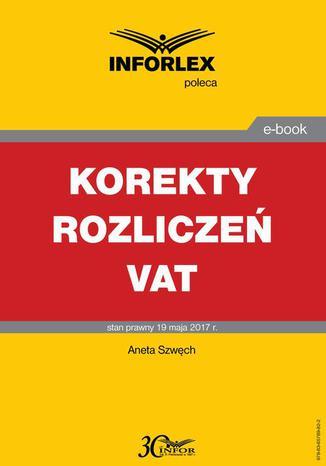 Okładka książki/ebooka Korekty rozliczeń VAT