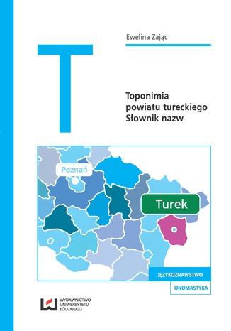 Okładka książki Toponimia powiatu tureckiego. Słownik nazw