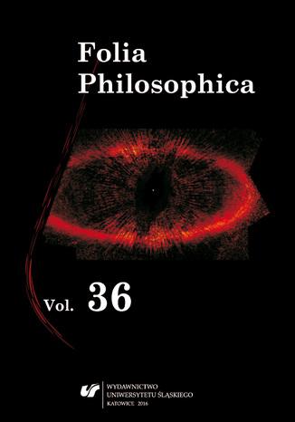 Okładka książki Folia Philosophica. Vol. 36