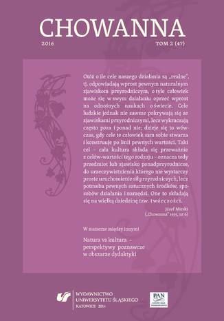 Okładka książki 'Chowanna' 2016. T. 2 (47): Natura vs kultura - perspektywy poznawcze w obszarze dydaktyki
