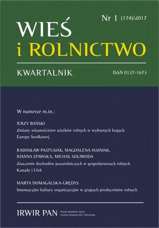 Okładka książki/ebooka Wieś i Rolnictwo nr 1(174)/2017