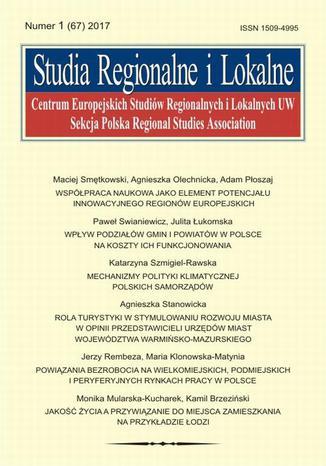 Okładka książki Studia Regionalne i Lokalne nr 1(67)/2017