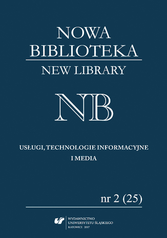Okładka książki 'Nowa Biblioteka. Usługi, technologie informacyjne i media' 2017, nr 2 (25): Książka dla młodego odbiorcy: autorzy, ilustratorzy, wydawcy