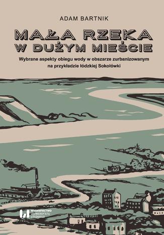 Okładka książki Mała rzeka w dużym mieście. Wybrane aspekty obiegu wody na obszarze zurbanizowanym na przykładzie łódzkiej Sokołówki