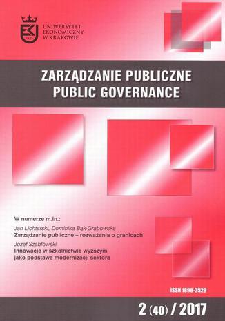 Okładka książki Zarządzanie Publiczne nr 2(40)/2017