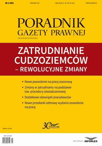 Okładka książki Zatrudnianie cudzoziemców w Polsce (PGP 9/2017)