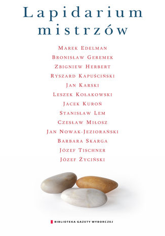 Okładka książki Lapidarium mistrzów