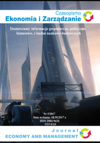 Okładka książki Czasopismo Ekonomia i Zarządzanie nr 5/2017