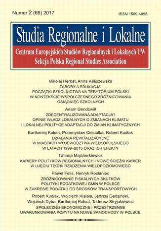Okładka książki Studia Regionalne i Lokalne nr 2(68)/2017