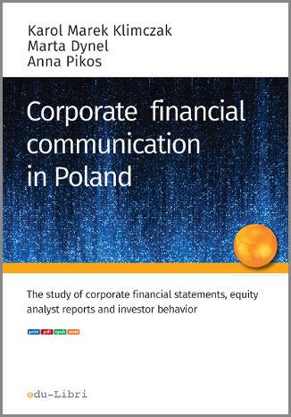 Okładka książki/ebooka CORPORATE FINANCIAL COMMUNICATION IN POLAND