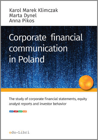 Okładka książki CORPORATE FINANCIAL COMMUNICATION IN POLAND