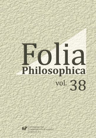 Okładka książki/ebooka Folia Philosophica. Vol. 38