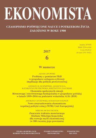 Okładka książki/ebooka Ekonomista 2017 nr 6
